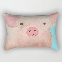 Pink Pig Rectangular Pillow