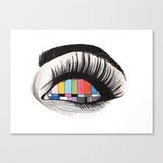 tv eye Canvas Print