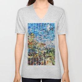 Modern Geometrical Colorful Squares - Art By Sharon Cummings Unisex V-Neck