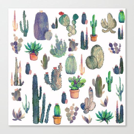 every cactu Canvas Print