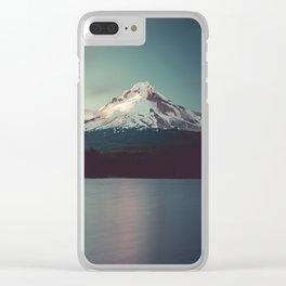 Sunset at Trillium Lake Clear iPhone Case