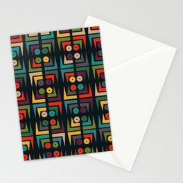 Color jukebox pattern Stationery Cards