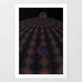 Unfitting Frame Orbitals 4 Art Print