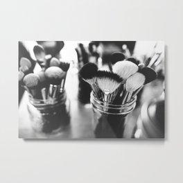Makeup Brushes Metal Print