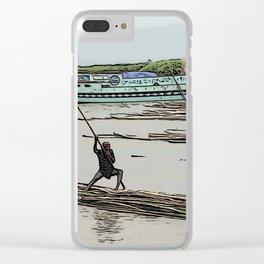 Boating in Bangladesh Clear iPhone Case