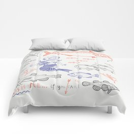 Fish me.... if you can! Comforters