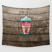 league Wall Tapestries featuring football club,liverpool,premier english league by ira gora