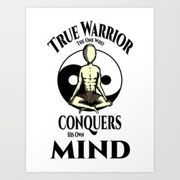 Conquer Your Mind Art Print