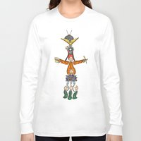 fandom Long Sleeve T-shirts featuring The Fandom Totem Pole by Tricksterbelle Productions