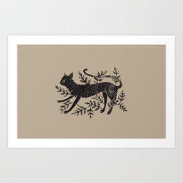 Cat in Vines Art Print