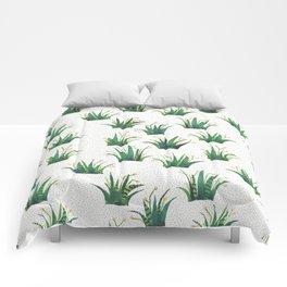 Field of Aloe Comforters