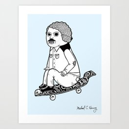 Hands down, he had the best board on the block.  Art Print