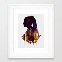 cosima Framed Art Prints featuring Cosima Niehaus by Myriam Meyer