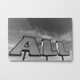 ALL Metal Print