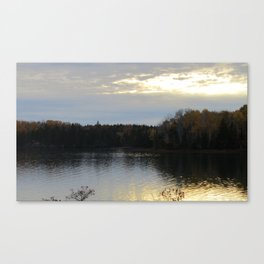 Downeast Autumn Reflections of Scattered Illuminations Canvas Print