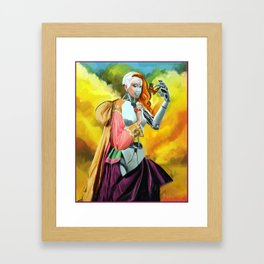 An Android in Nature Framed Art Print