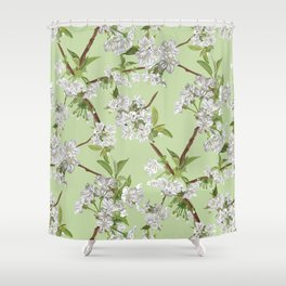Early Blossom Shower Curtain