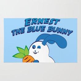 Ernest the blue bunny Rug
