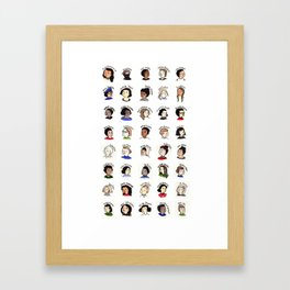 Cool People (Who Happen to be Women) Framed Art Print