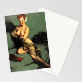 Fascination Gil Elvgren Pin Up Girl Stationery Cards