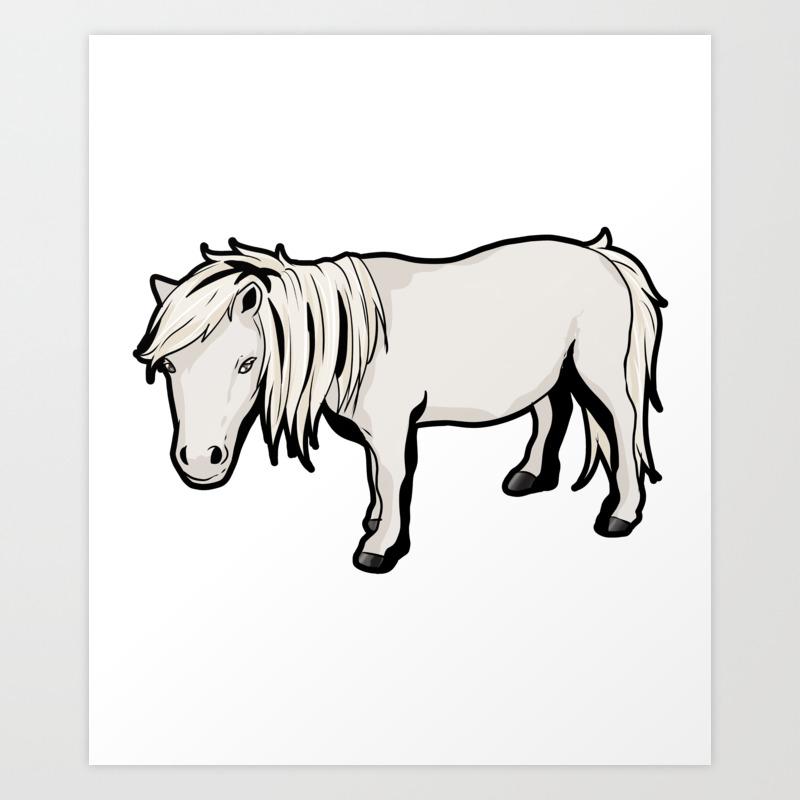 Shetland Pony Horse Riding Art Print By Moonpie90 Society6