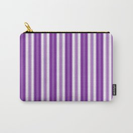 Purple and White Stripes Carry-All Pouch