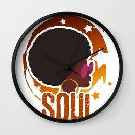 Retro Funky Afro 70's Wall Clock