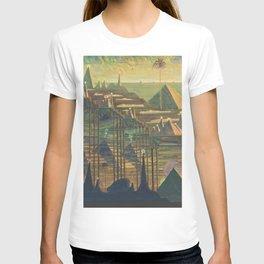 Allegro Egyptian Dynasty Pyramids landscape by by Mikalojus Konstantinas Čiurlionis T-shirt