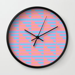 Pink Blue Peach Houndstooth /// www.pencilmeinstationery.com Wall Clock