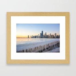 Iced Out Sunrise Framed Art Print