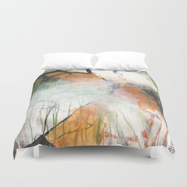 Thicket  - Square Abstract Expressionism Paintng Duvet Cover