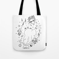cactei Tote Bags featuring Cactei by ☿ cactei ☿