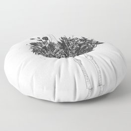 Floral ostrich Floor Pillow