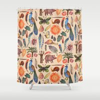 tropical Shower Curtains featuring Tropical by VLAD stankovic