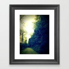 Down a Dirt Road Framed Art Print