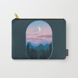 View from the Window - Moonlit Mountains Carry-All Pouch