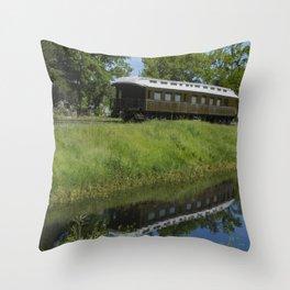 Sitting on a siding Throw Pillow