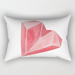 Crystal/Origami Heart Rectangular Pillow