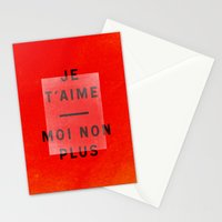 Je t'aime...moi non plus Stationery Cards