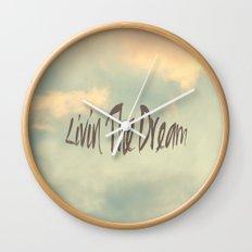 Livin The Dream Wall Clock