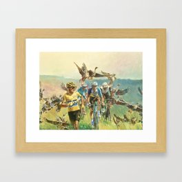 'Froome Chasing Geese. Tour de France 2016' Framed Art Print