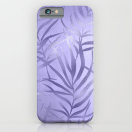 Lilac Leaves iPhone Case