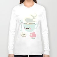 coffee Long Sleeve T-shirts featuring Coffee! by Gina Mayes