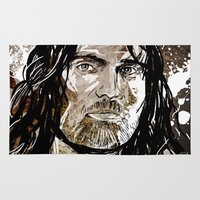 aragorn Area & Throw Rugs featuring Aragorn by Patrick Scullin