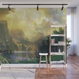 Among the Siera Nevada Mountains, California by Albert Bierstadt Wall Mural