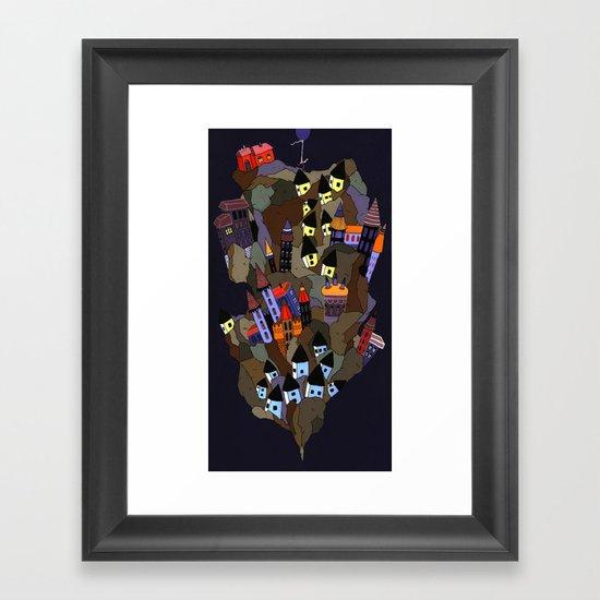 Floating Rock Framed Art Print