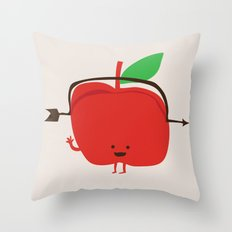 The Apple and The Arrow Throw Pillow