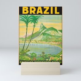 Vintage Travel Brazil 2 Mini Art Print