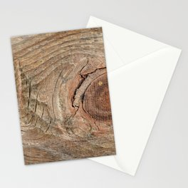 Wood with knot Stationery Cards