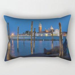 Venice By Night Rectangular Pillow